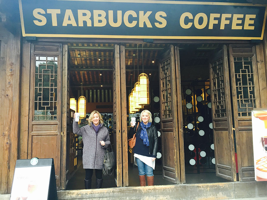 Starbucks! A very welcome familiarity in this part of the world.