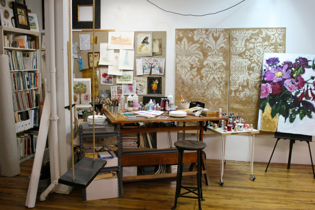 Artist interview with Chad Barrett for Creative Co-Op. Paintings and wallpaper prints.