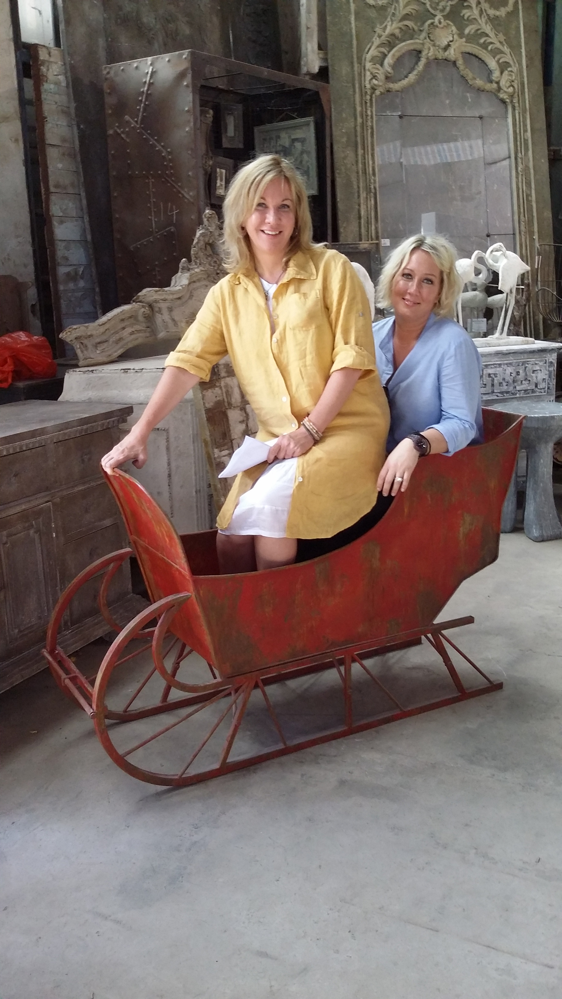 Cindy and Tamra in the new CCOI sleigh