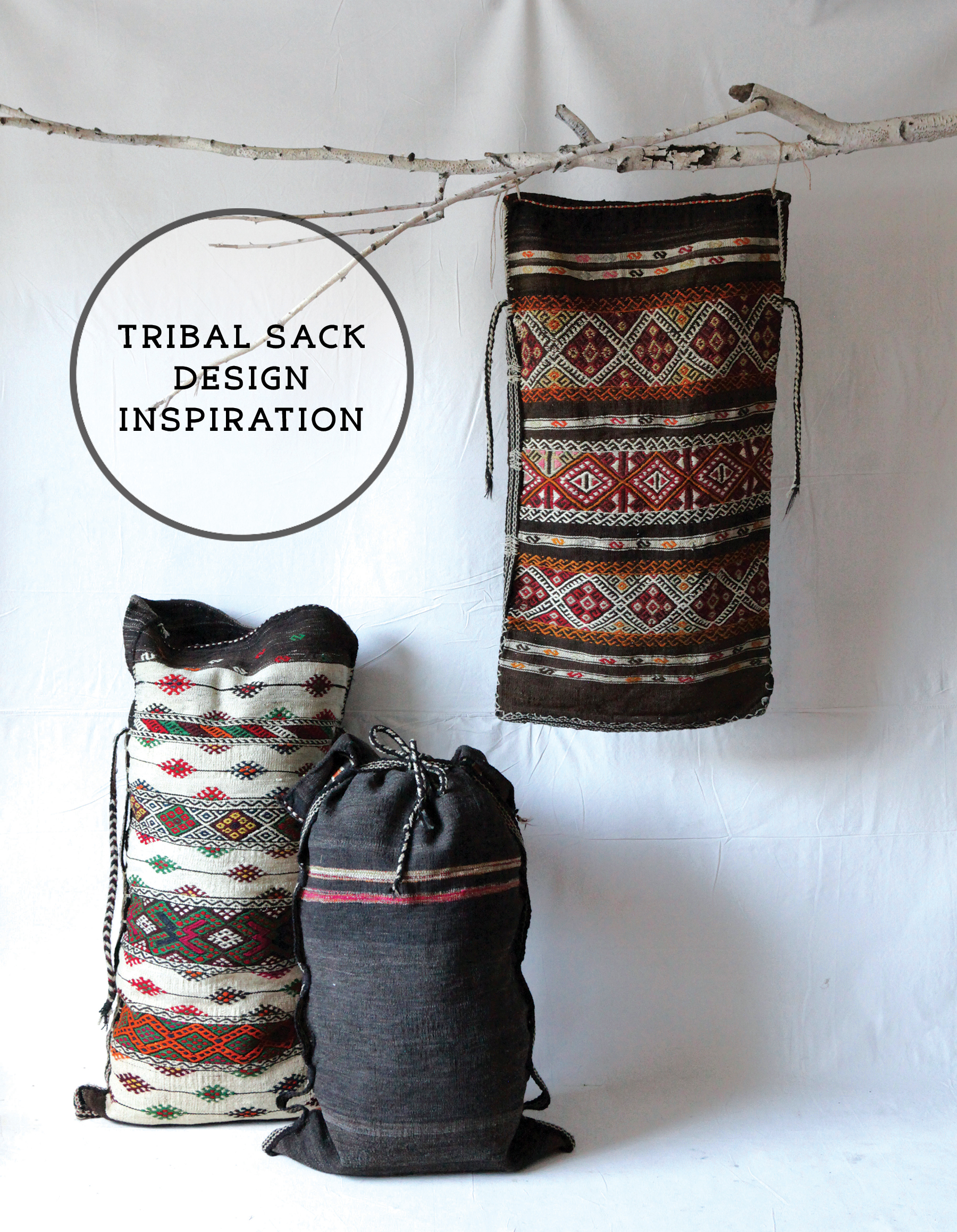 design inspiration with kilim bags