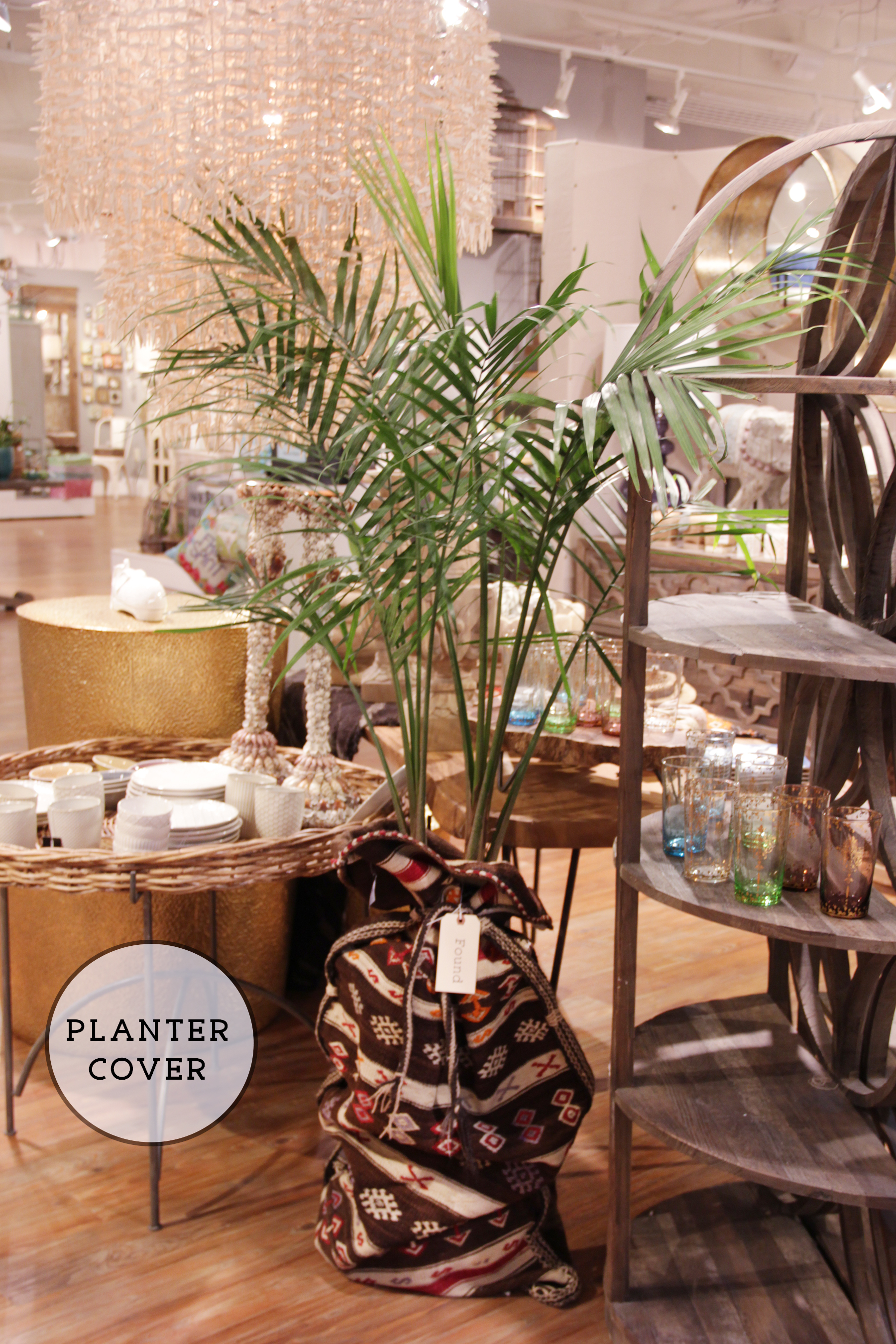 creative plant pot cover