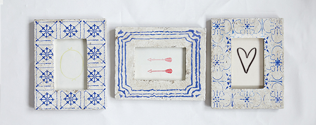 Creative Co-Op Cement Blue and White Frames